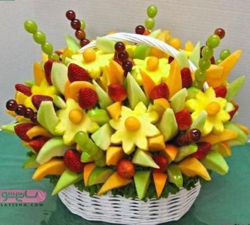 میوه آرایی جدید به شکل سبد 98