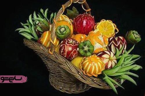 تزیین میوه های فصل مجلسی