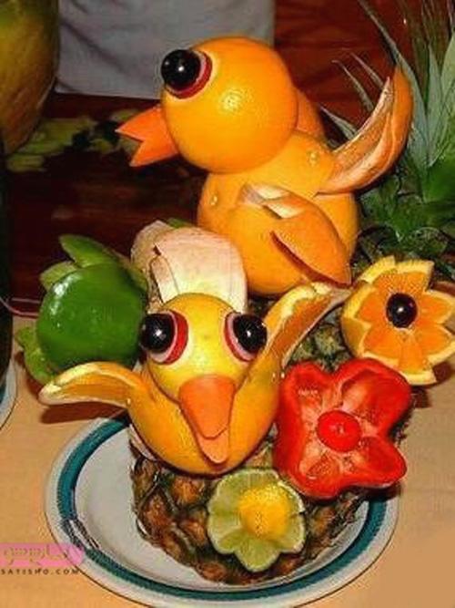 جدیدترین مدل تزیین پرتقال و آناناس
