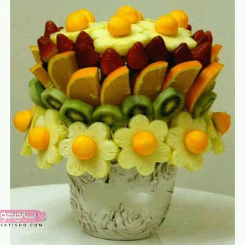 شیک ترین مدل میوه آرایی دسته گل