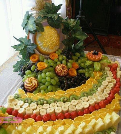 میوه آرایی بسیار شیک و زیبا مناسب شب یلدا