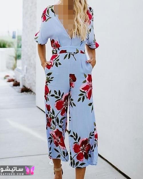 مدل لباس سرهمی جدید گلدار