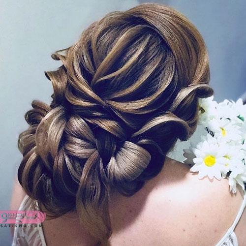 آرایش موی خطی زنانه و دخترانه برای عروس