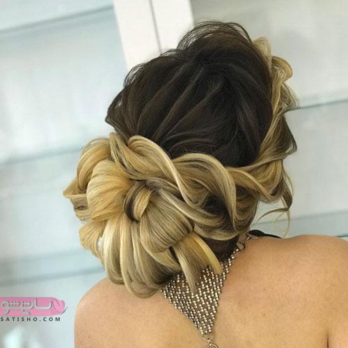آرایش موی تخصصی عروس به شکل پاپیون