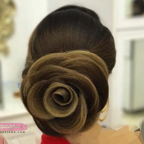 مدل شینیون عروس برای انواع موهای بلند و کوتاه