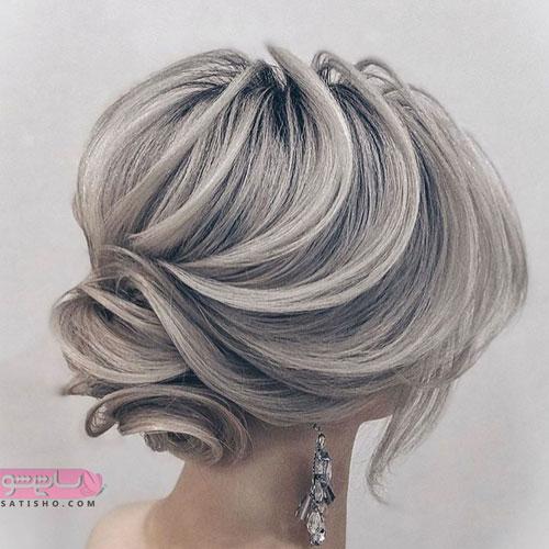 شینیون موی کوتاه برای عروس و شرکت در مجالس