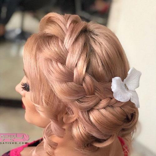 مدل بافت موی عروس شینیون مجلسی و شیک 98