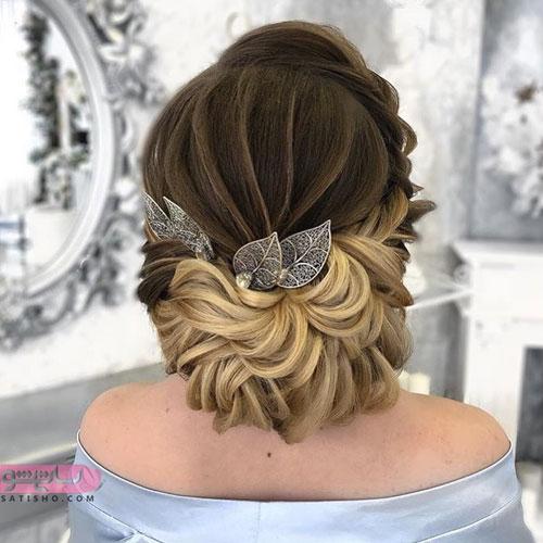 شینیون موی عروس برای حنابندان