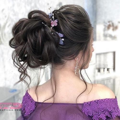 مدل جدید شینیون نامزدی مشکی رنگ