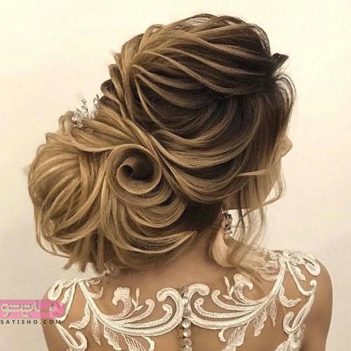 مدل آرایش عروس به شکل کاغذی خطی 98