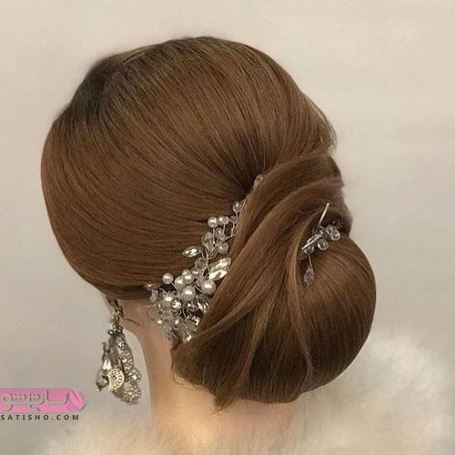 مدل شینیون مو جدید با طرح های مجلسی و فانتزی