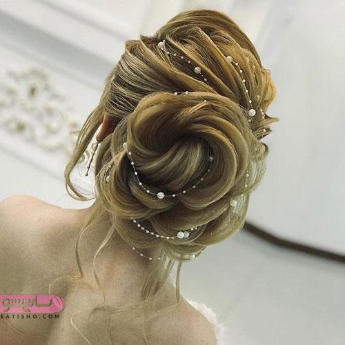 مدل شینیون خامه ای نسکافه ای رنگ لاکچری