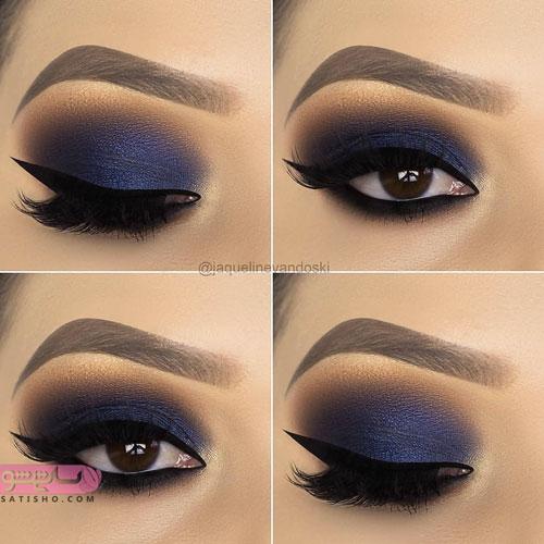 آرایش لاکچری چشم برای دختران جوان