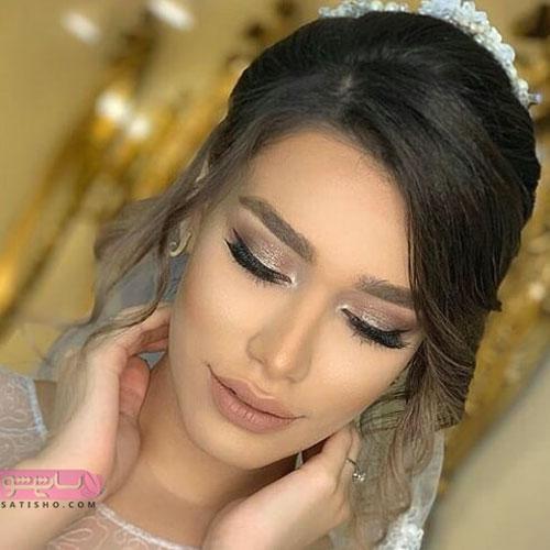 ساده ترین آرایش چشم مخصوص عروس