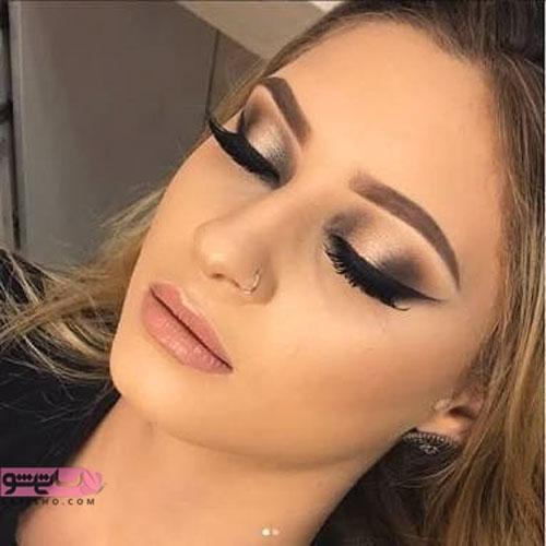 خط چشم و آرایش زیبای زنانه