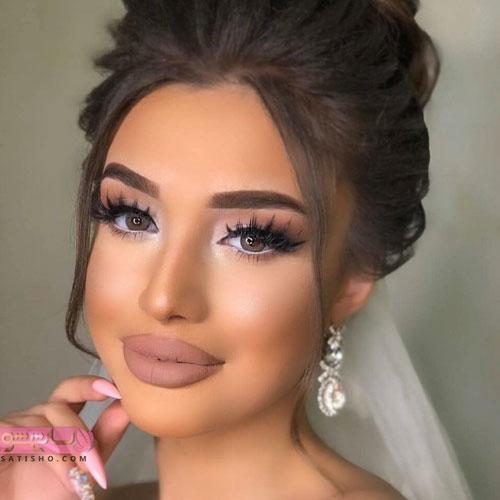 آرایش چشم عروس با مژه مصنوعی