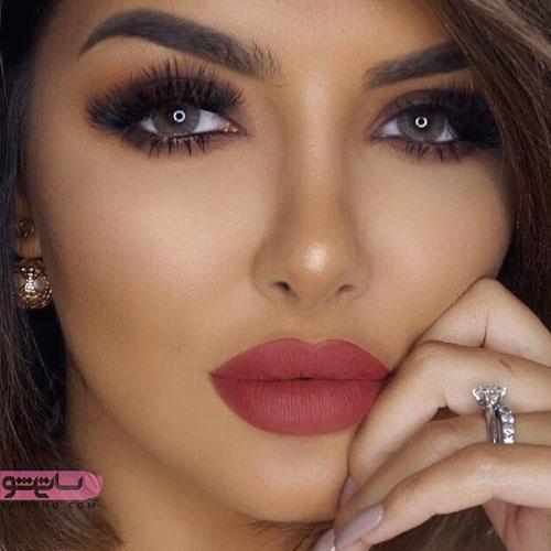 نمونه آرایش جدیدعروس چشم رنگی