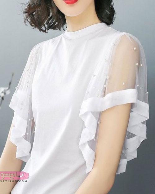 مدل آستین فانتزی لباس عروس