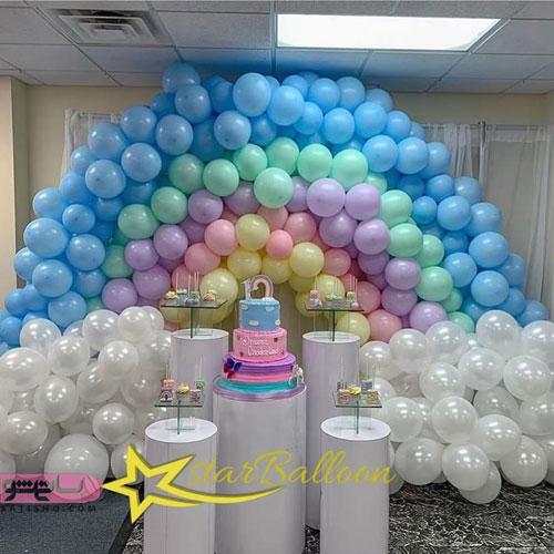 ایده باحال بادکنک آرایی و تزیین اتاق تولد