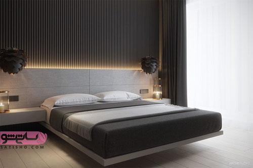 مدل دکوراسیون اتاق پذیرایی با رنگ مشکی و تیره