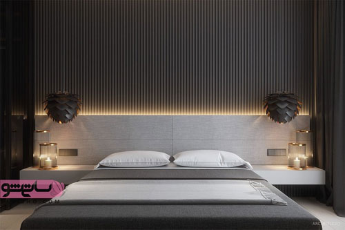تصاویری از چیدمان اتاق خواب با رنگبندی تیره