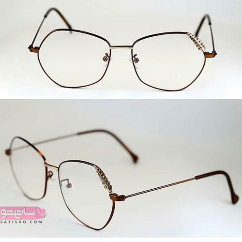 مدل عینک طبی با فریم دایره ای و گرد لاکچری