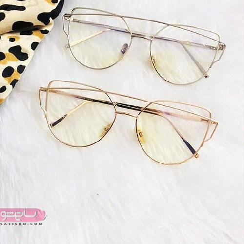فریم عینک طبی زنانه کائوچو و فلز شیک