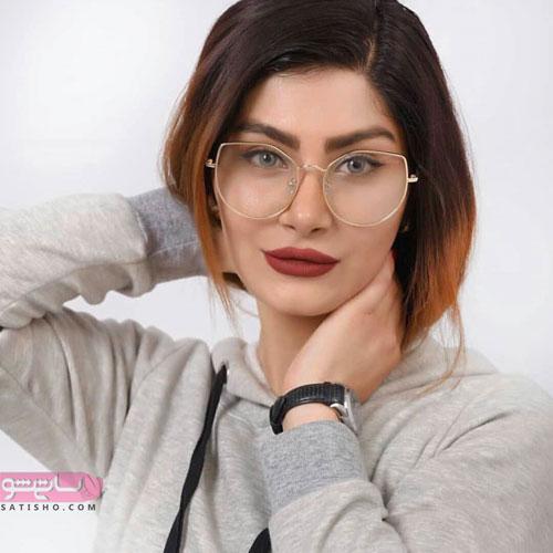مدل عینک فریم دار بیضی شکل فلزی دخترانه