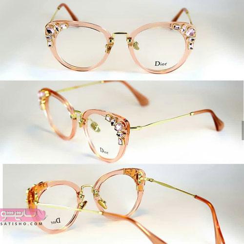 عینک نگین دار طرح دخترانه لاکچری 2019