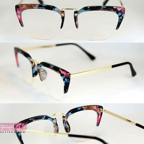مدل عینک خاص طبی زنالنه با قاب رنگی