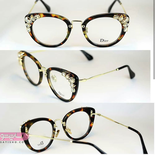 مدل عینک شیک طبی با قاب های طرح دار