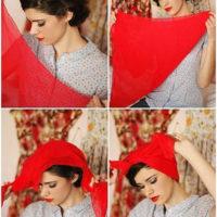 آموزش بستن شال دخترانه و زنانه | مدل های جدید بستن شال و روسری