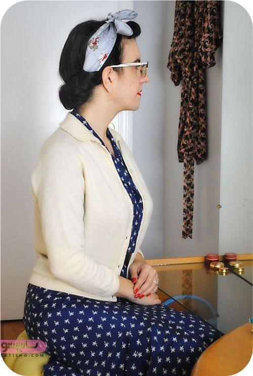 آموزش گام به گام بستن شال و روسری به صورت تصویری