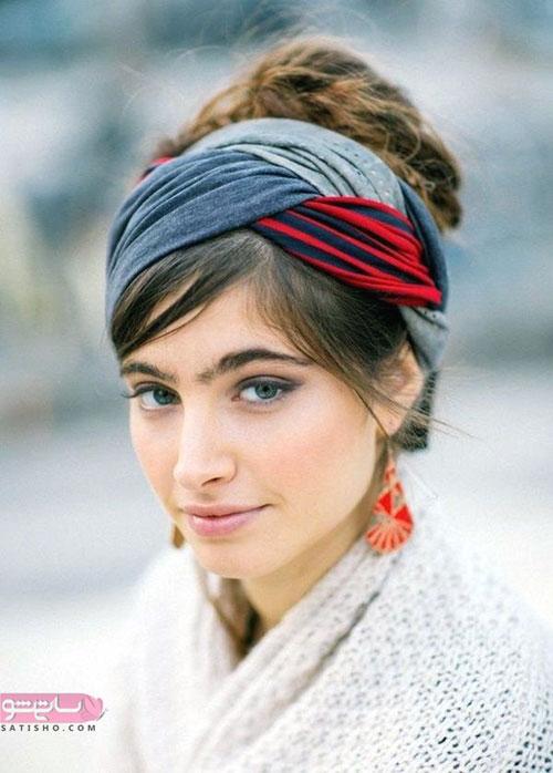 آموزش گره زدن شال و روسری دخترانه