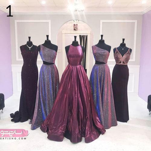 انواع لباس های مجلسی زنانه بلند برای مراسم عروسی
