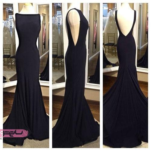 نمونه شیک لباس شب مشکی رنگ ماکسی