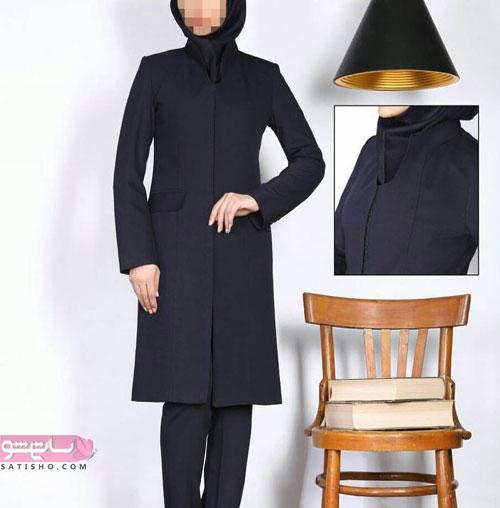 مدل مانتو و شلوار اداری به سبک اسلامی مشکی رنگ