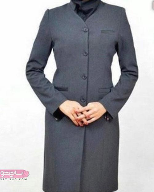 مانتو رسمی طرح حجاب مشکی رنگ زنانه جدید