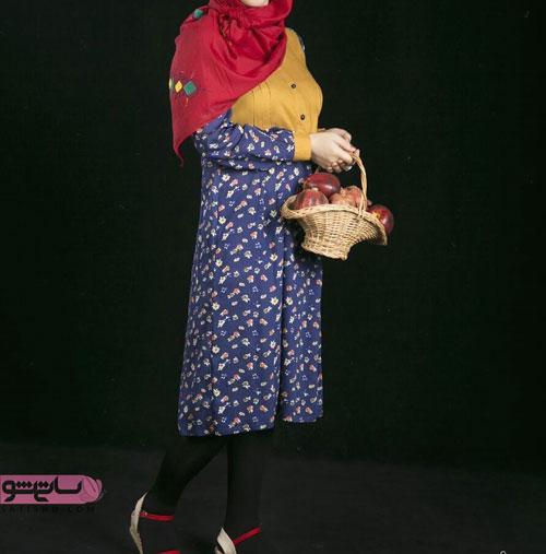 مانتوی بلند سنتی با طرح زیبا