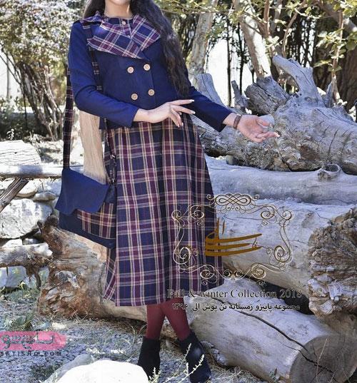 مدل مانتو کت و دامنی دخترانه با پارچه کتان