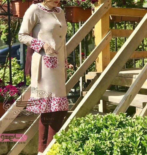 طرح های خفن مانتو سنتی حاشیه گلدار