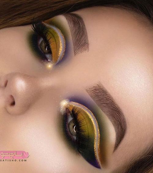 مدل آرایش چشم عروس جدید با سایه روشن