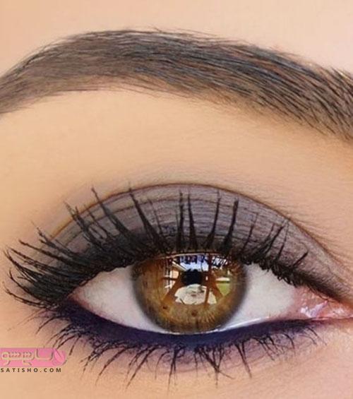 آرایش چشم لایت زیبا , آرایش چشم قهوه ای