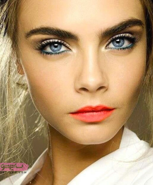 آرایش چشم رنگی شیک و لاکچری