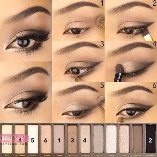 مدلهای آرایش چشم جدید دخترانه و زنانه 98