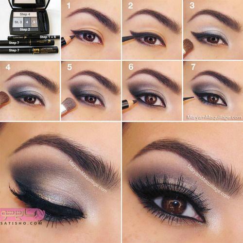 نحوه ی آرایش چشم ساده با خط چشم مشکی
