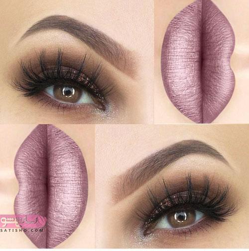 عکس آرایش چشم عروس اروپایی