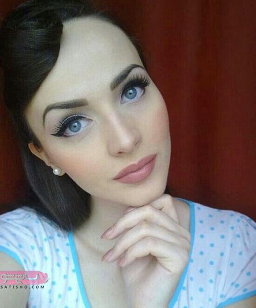 مدل سایه زدن و آرایش چشم رنگی شیک و ساده