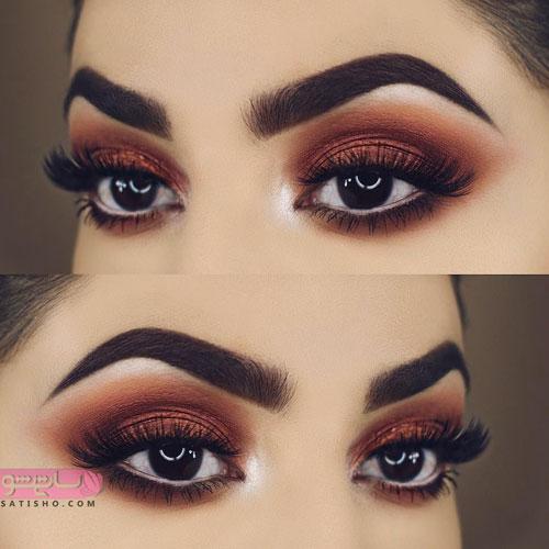 جذاب ترین آرایش چشم عروس برای چشم های مشکی