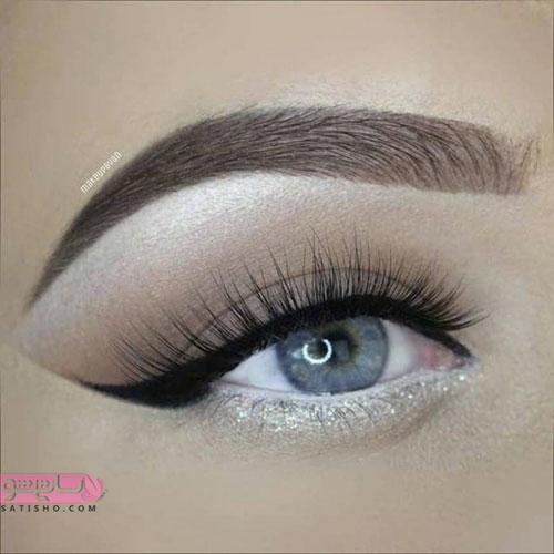 آرایش ملایم عروس چشم آبی